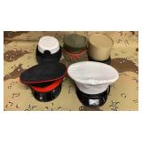18 Each Different Military Dress Hats W & M New