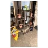 Shelf, Pots, Potting Soil, Etc.