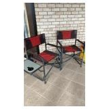 (2) Camping Chairs with Side Tables