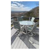 Outdoor Table & Chairs - 5 Piece Set