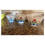 Painted Glass Mixing Bowls