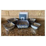 Blue & Tan Stoneware / Ovenware