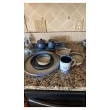 Blue & Tan Kitchenwares