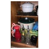 Cabinet FULL of Kitchenware - Incl. Crockpot!