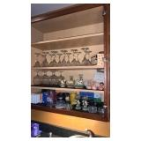 Cabinet Full of Glasswares & Decor