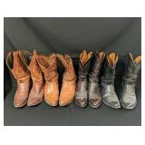 4 Pair Size 12 Lucchese, Justin & Black Jack