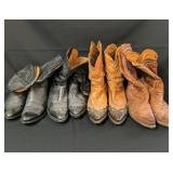 4 Pair Size 12 Lucchese Cowboy Boots
