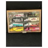8 Collectible Die Cast Haulers in Display