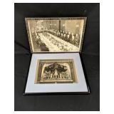 Two Framed Black & White Photos c.1929