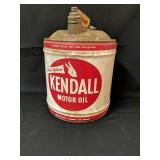Vintage 5 Gallon Kendall Motor Oil Can