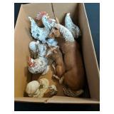 Lot Box of Ceramic Animals