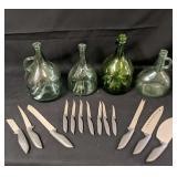 Decorative Bottles & Cutlery Set