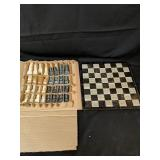 Chess Set, Board is Beoken But Usable