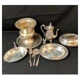 Assortment of Silverplate Serving Pieces