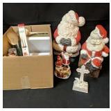 Lot Box of Assorted Christmas Decor
