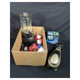 Box Lot of Miscellaneous Small Appliances & More