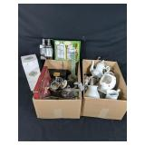 Two Lot Boxes of Assorted Home Decor