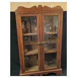 Mission Style Flat Front Cabinet