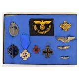 Nazi Germany pins and medals