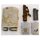 WWII trench lighters etc