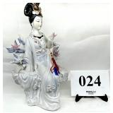 Porcelain Asian Female w/ Book in hand