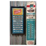 Kentucky Club Tobacco Thermometer