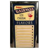Dairylea Ice Cream Menu Board
