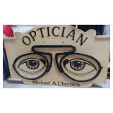 Wood Optician Trade Sign