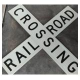 Rail Road Crossing Metal Original Sign