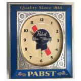 Pabst Blue Ribbon PBR Clock Sign