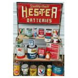 Hester Batter Rack + Many Oil Cans
