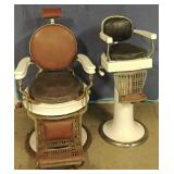 Koch Porcelain Barber Chairs