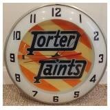 Porter Paints Clock