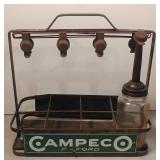 Campeco Chicago Oil Co. Bottle Rack