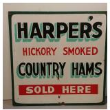 Wood Painted Country Ham Sign