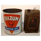 Oilzum / Indian Oil Cans