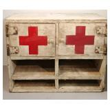Vintage First Aid Wood Cabinet Medical