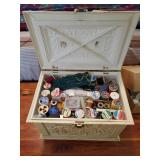 Sewing Chest & Contents