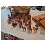 Hand Carved Nativity Set
