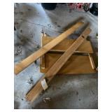 Wooden Head Board, Foot Board, Rails