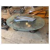 Glass Top Table, Wagon