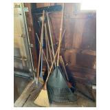 Plastic Rakes, Brooms, Hedge Trimmer, Misc