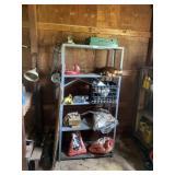 Metal Shelf & Contents ( Transmission Holder, Cat