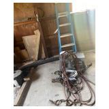 Rope, Hoses, 2 Blue Stools, 6ft Werner Ladder