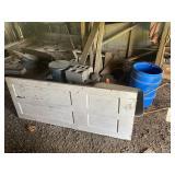 Wood Planks, Blue Barrel Of Wood, Wooden Ladder,