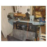 Lathe, Tools On Wall, 2 Shelves, & Contents