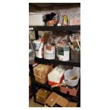 Plastic Black Shelf  & Contents On & Around