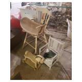 High Chair, Potty Chair, Wheel Horse