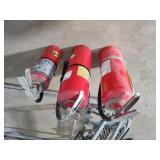 3 ABC Dry Chemical Fire Extinguishers