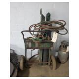 Acetylene Torch Cart W/ Hoses & Oxygen Tank